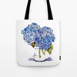 Hydrangea painting Tote Bag