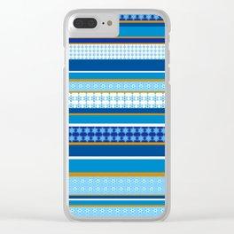 hanukkah wrap Clear iPhone Case