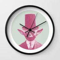 yoda Wall Clocks featuring Yoda by NJ-Illustrations