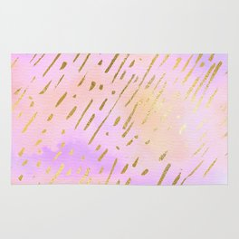 Pastels In Gold Stipes Rug