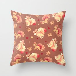 Vulpix & Ninetales pattern Throw Pillow