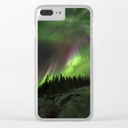 Powerful Aurora Clear iPhone Case