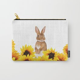Sunflower Rabbit Carry-All Pouch