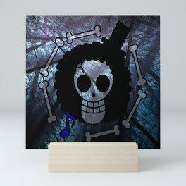 Pirate flag with Dark Forest 2 Mini Art Print