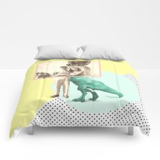 Who would like to date a t-rex Comforters