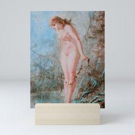"Luis Ricardo Falero ""Woman at the water's edge"" Mini Art Print"