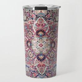 Kashan Central Persian Rug Print Travel Mug