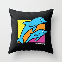 Dolphins. Throw Pillow
