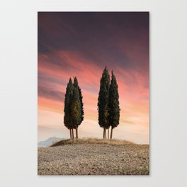 Sunset at Toscany Canvas Print
