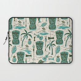 Tropical Tiki - Cream & Aqua Laptop Sleeve