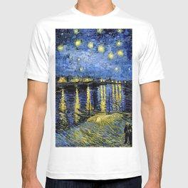 Van Gogh Starry Night Over the Rhône T-shirt