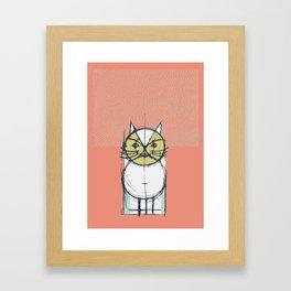 Cubist Cat Study #12 by Friztin Framed Art Print