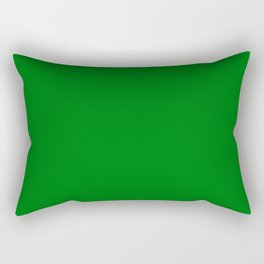 Christmas Holly and Ivy Green Velvet Color Rectangular Pillow