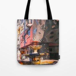 Hundertwasserhaus 3 Vienne Autriche Tote Bag