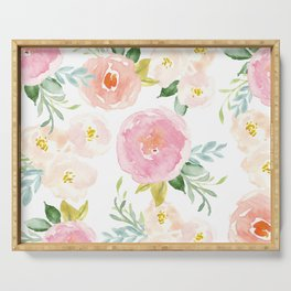 Sweet Pink Blooms (Floral 02) Serving Tray