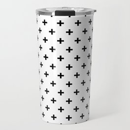 Black Swiss Cross Travel Mug