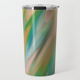 Painted Peacock Abstract Travel Mug