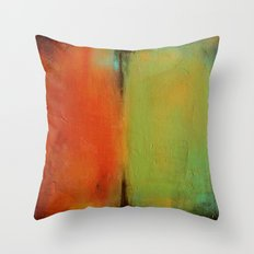 Green and Orange Throw Pillow