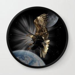 """Possibilities"" Bald Eagle Inspirational Design Wall Clock"