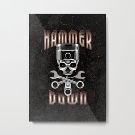Hammer Down Metal Print