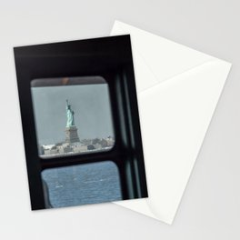 Statue of Liberty from the ferry Stationery Cards