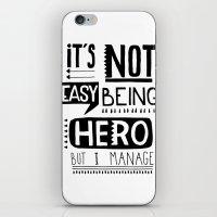 hero iPhone & iPod Skins featuring hero by ulas okuyucu