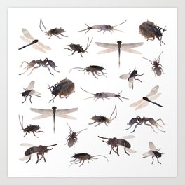 insects colabb. Art Print