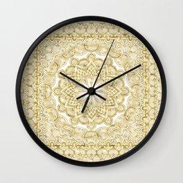 Orient Espresso Pattern Mandala Gold Wall Clock