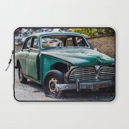 Smashed vintage car Laptop Sleeve