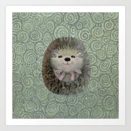 Cute Baby Hedgehog Art Print
