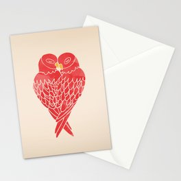 Love Birds (Red) Stationery Cards