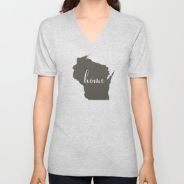 Wisconsin is Home Unisex V-Neck