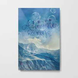 Adventure Awaits Blue Mountains Metal Print
