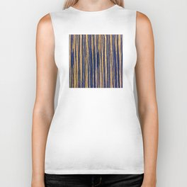 Vertical Scratches on Royal Purple Metal Texture Biker Tank