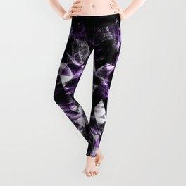 Triangle Geometric Purple Smoky Galaxy Leggings