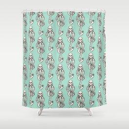 Dark Mark - Mint Shower Curtain