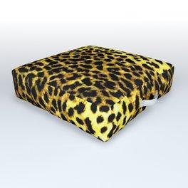 Leopard Print Animal Wallpaper Outdoor Floor Cushion