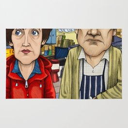 Roy and Hayley Cropper from Corrie Rug