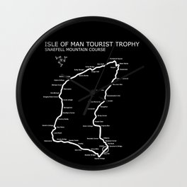 Isle Of Man Mountain Course Wall Clock