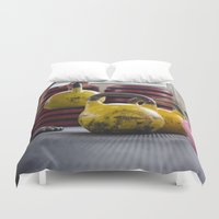 crossfit Duvet Covers featuring Kettlebell Pick Up by StirlingStudio