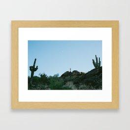 Arizona Desert Moon Framed Art Print