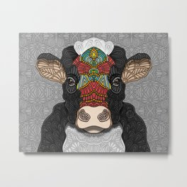 Bella the cow Metal Print