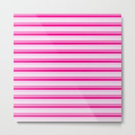 Pink Stripes Metal Print