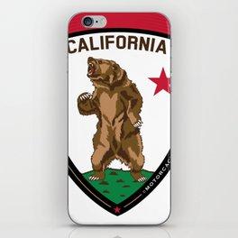 California Bear Badge iPhone Skin
