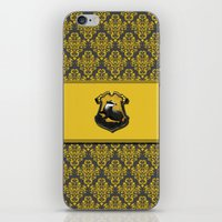 hufflepuff iPhone & iPod Skins featuring Hufflepuff House by Sarah and Bree