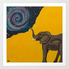 Elephant Magic Art Print