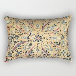 Kermina  Suzani  Antique Uzbekistan Embroidery Print Rectangular Pillow