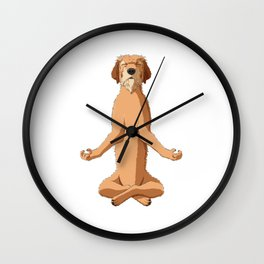 Meditate Styrian Coarse Haired Hound Wall Clock