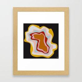 mustard agate Framed Art Print