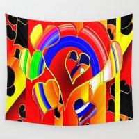 valentine Wall Tapestries featuring Valentine  by JT Digital Art